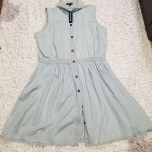 NWT Chambray Button Up Dress New Look